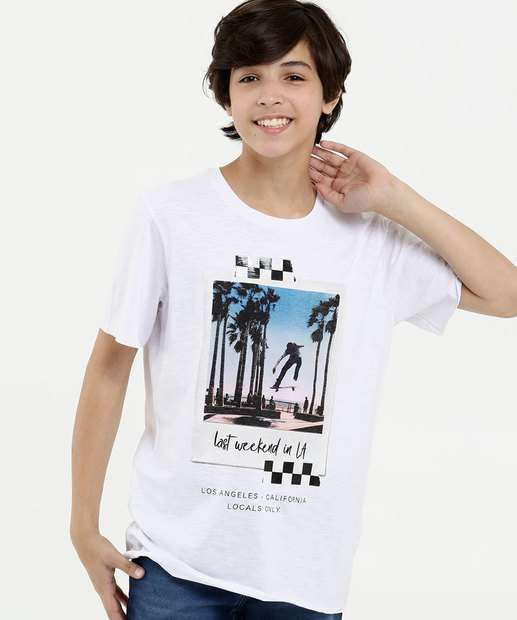 Image_Camiseta Juvenil Flamê Estampa Skate Manga Curta MR