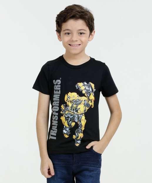 Image_Camiseta Infantil Bumblebee Transformers Manga Curta Hasbro