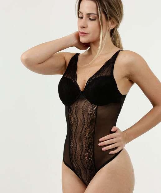 Image_Body Feminino Sensual Renda Alças Finas Marisa