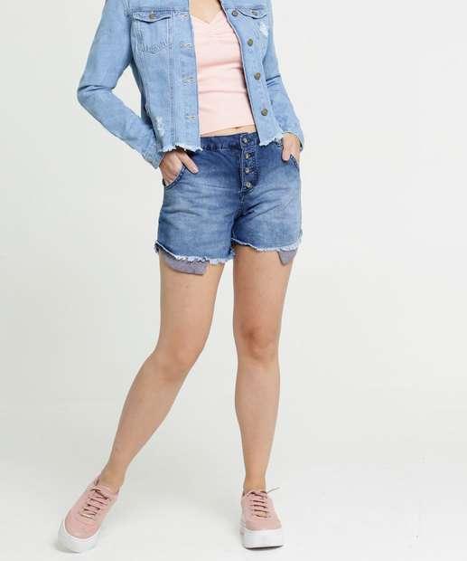 Image_Short Feminino Jeans Bolsos Razon