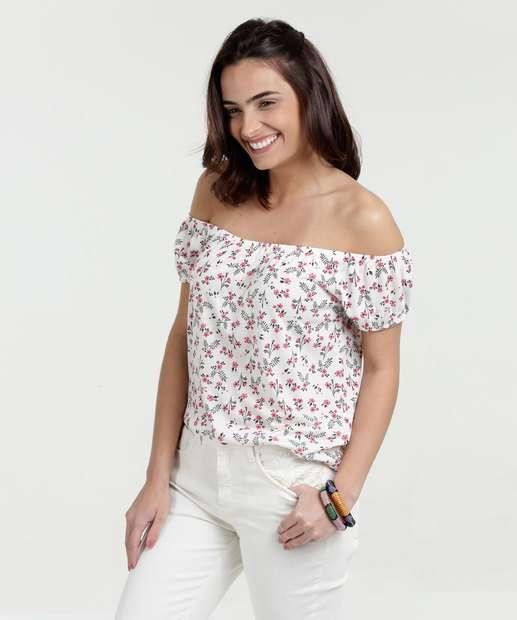 Image_Blusa Feminina Estampa Floral Ombro a Ombro Marisa