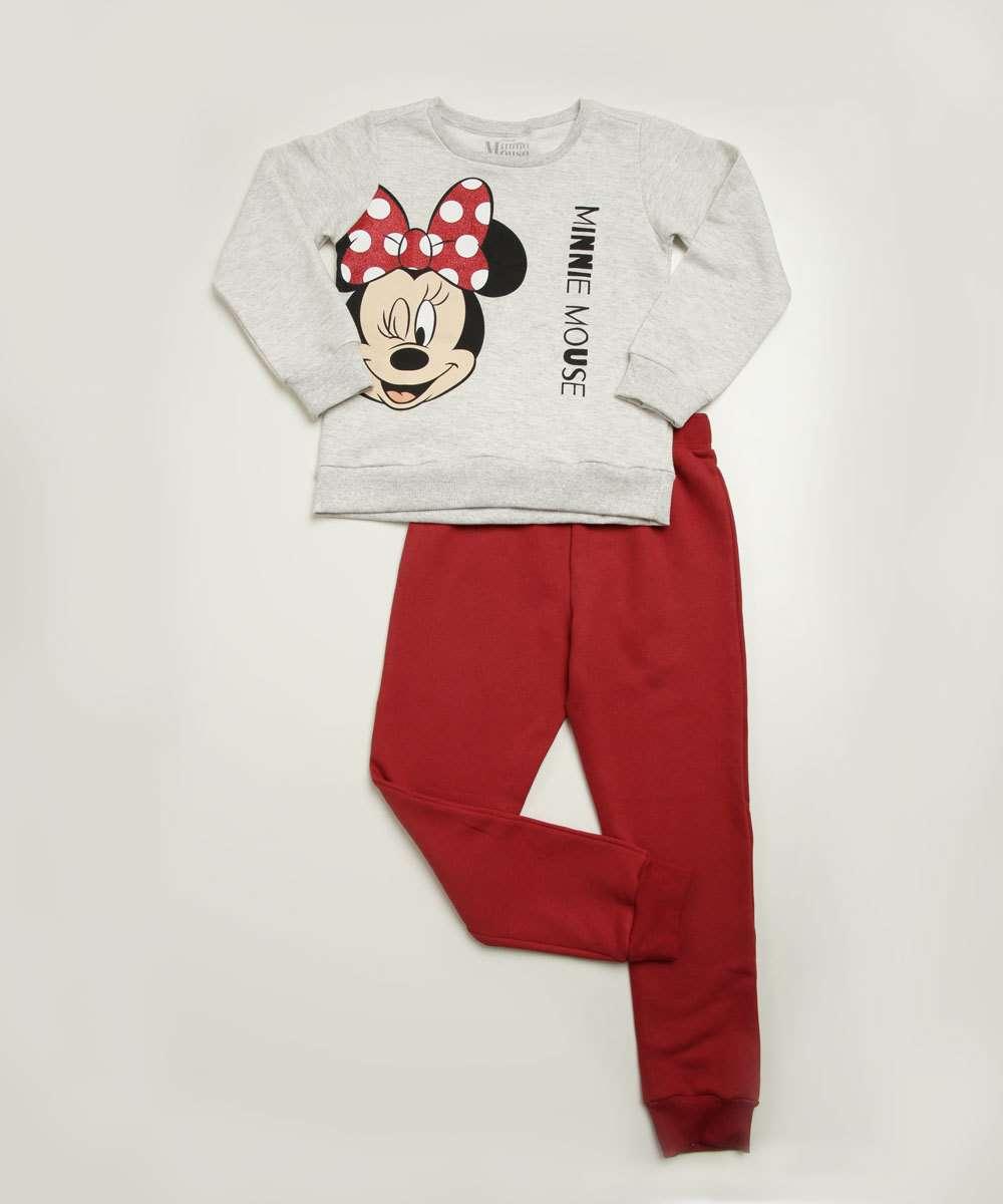 Conjunto Infantil Moletom Estampa Minnie Disney Tam 4 a 10
