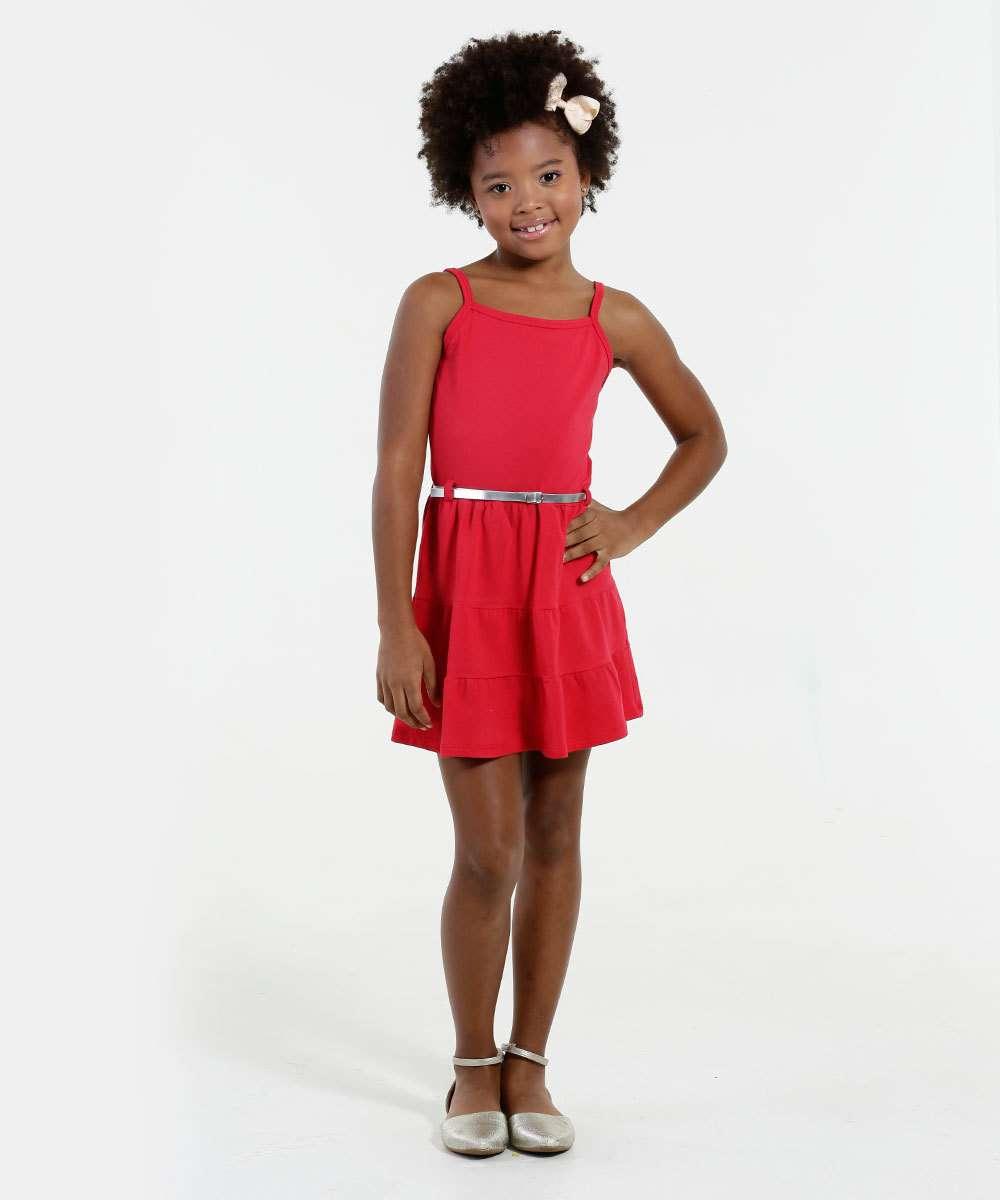 Vestido Infantil Alças Finas Marisa