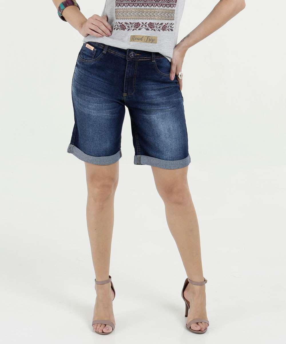 6c82558c5 Bermuda Feminina Jeans Stretch Plus Size Biotipo | Marisa