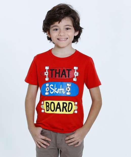 Image_Camiseta Infantil Estampa Skate Manga Curta Marisa