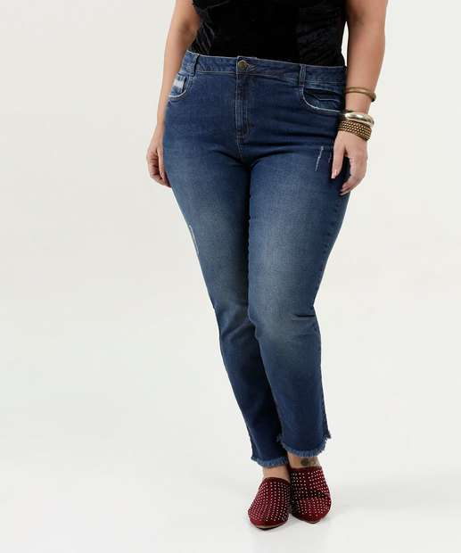 Image_Calça Feminina Jeans Cigarrete Plus Size Marisa