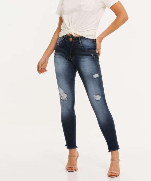 Image_Calça Jeans Skinny Feminina Puídos Biotipo
