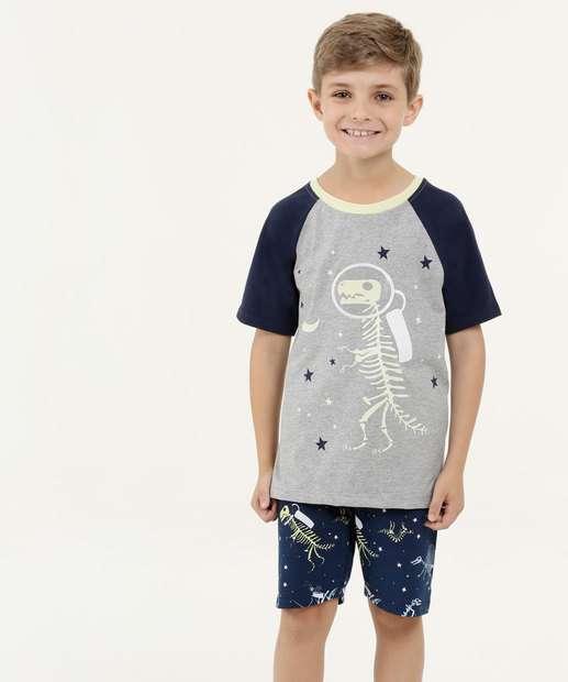 Image_Pijama Infantil Estampa Dinossauro Manga Curta MR