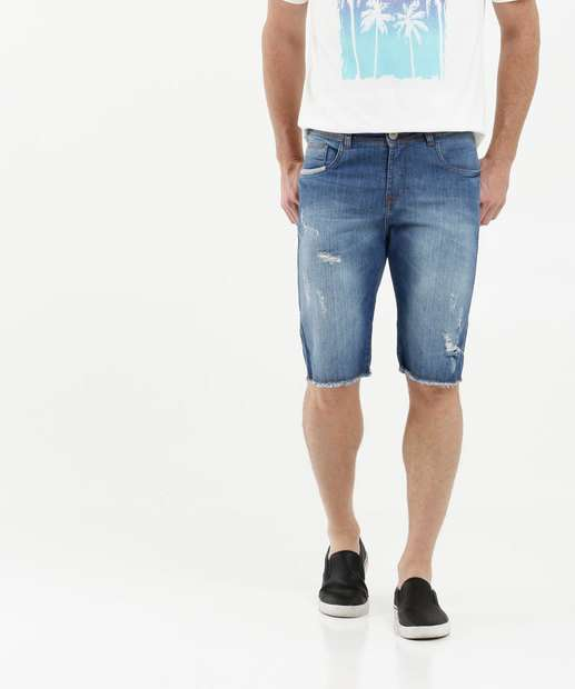 Image_Bermuda Masculina Jeans Destroyed Razon