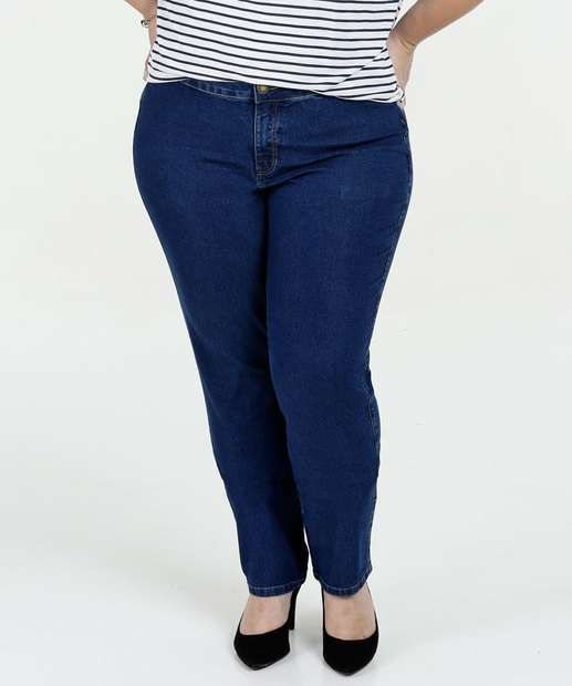 Image_Calça Feminina Jeans Skinny Cintura Alta Plus Size Marisa