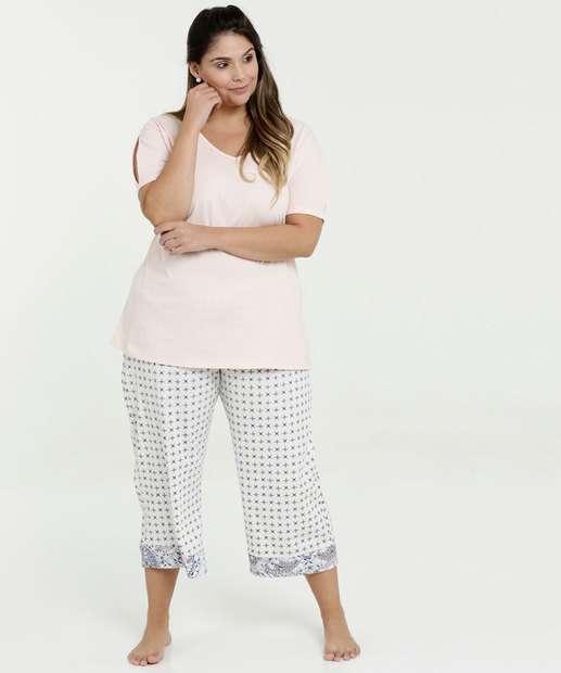 Image_Pijama Feminino Estampado Plus Size Manga Curta Marisa