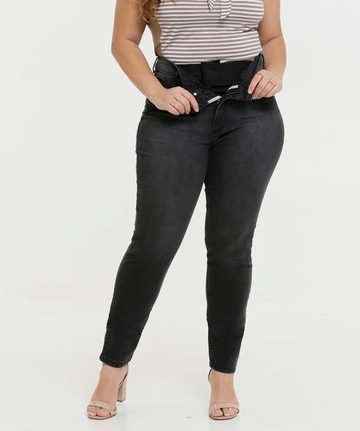 Image_Calça Plus Size Jeans Feminina Modeladora