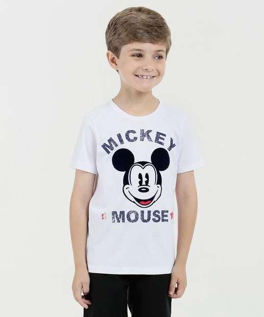 Image_Camiseta Infantil Estampa Mickey Manga Curta Disney