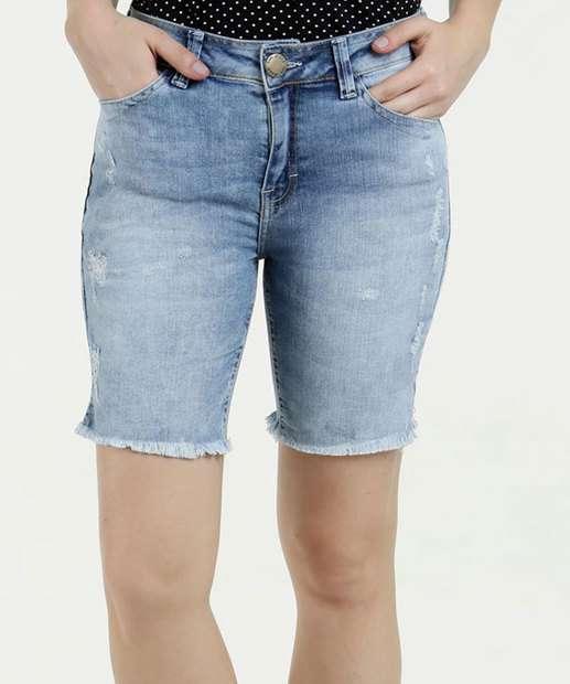 Image_Bermuda Feminina Jeans Puidos Cintura Média Five Jeans