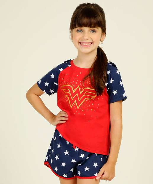 Image_Pijama Infantil Mulher Maravilha Liga da Justiça Tam 4 a 12