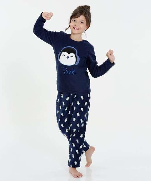 Image_Pijama Infantil Soft Bordado Estampa Pinguim Marisa