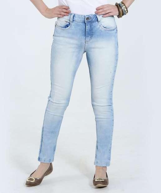 Image_Calça Feminina Skinny Stretch Jeans Marmorizado