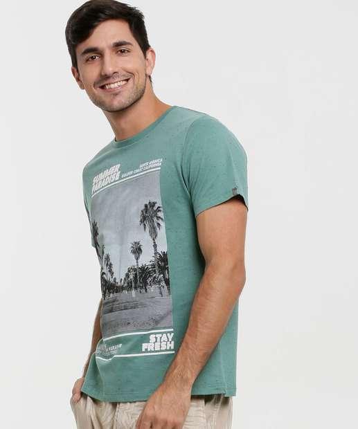 Image_Camiseta Masculina Botonê Estampa Frontal Manga Curta