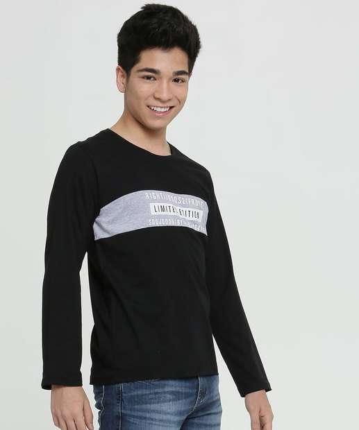 Image_Camiseta Juvenil Estampa Frontal Manga Longa