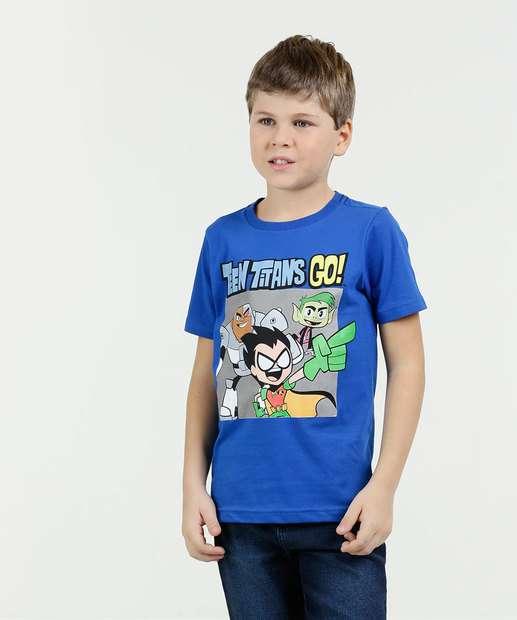 Image_Camiseta Infantil Estampa Jovens Titãs Warner Bros