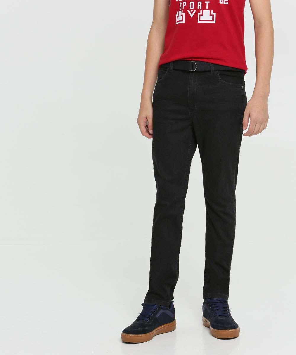 Calça Juvenil Jeans Cinto MR