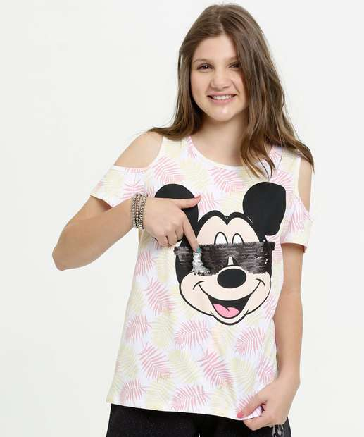 Image_Blusa Juvenil Open Shoulder Mickey Disney