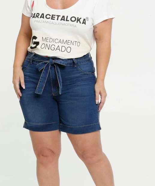 Image_Bermuda Feminina Jeans Clochard Plus Size