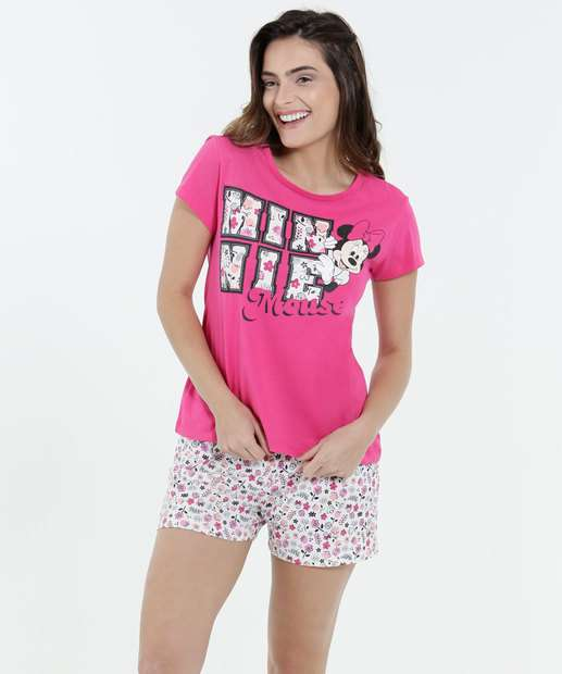 Image_Pijama Feminino Short Doll Estampa Minnie Disney