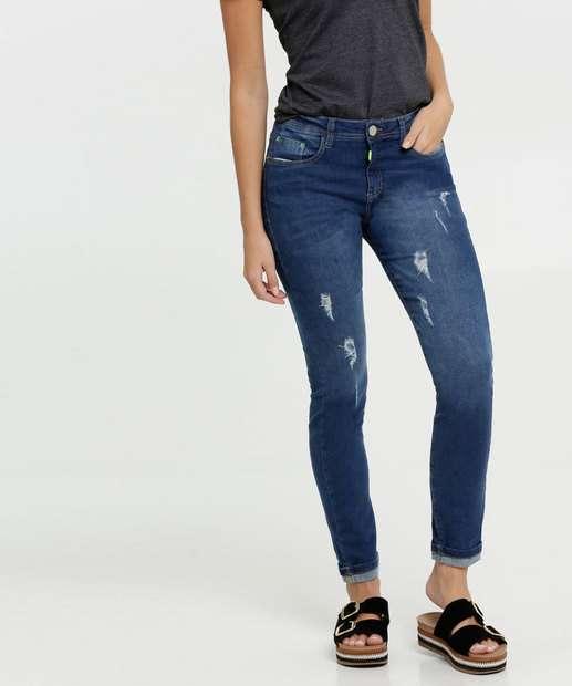 Image_Calça Jeans Skinny Destroyed Neon Feminina Marisa