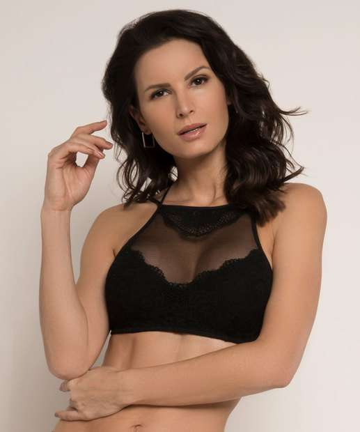 Image_Sutiã Feminino High Neck Strappy Renda Lucitex