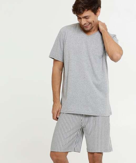 Image_Pijama Masculino Listrado Manga Curta