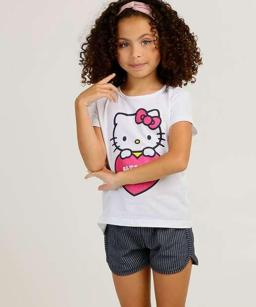 Image_Conjunto Infantil Manga Curta Hello Kitty Sanrio Tam 4 a 10