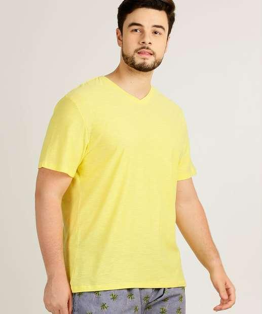 Image_Camiseta Masculina Plus Size Básica Manga Curta