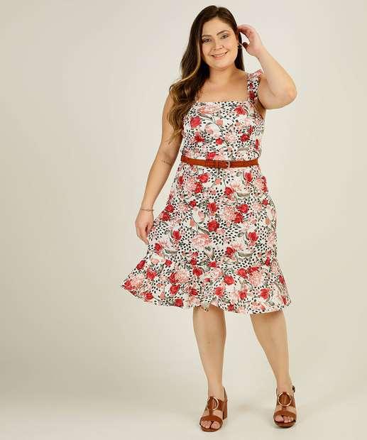 Image_Vestido Plus Size Feminino Floral Babado Marisa