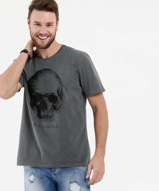 Image_Camiseta Masculina Estampa Caveira Manga Curta MR