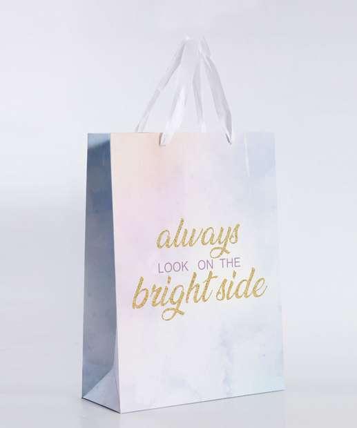 Image_Embalagem Presente Sacola Frase Dourada Marisa