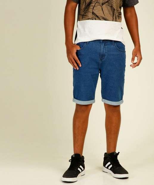 Image_Bermuda Juvenil Jeans Barra Dobrada MR Tam 10 a 16