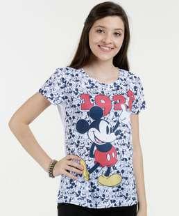 Blusa Juvenil Estampa Mickey Manga Curta Disney fbfa2ceb2a
