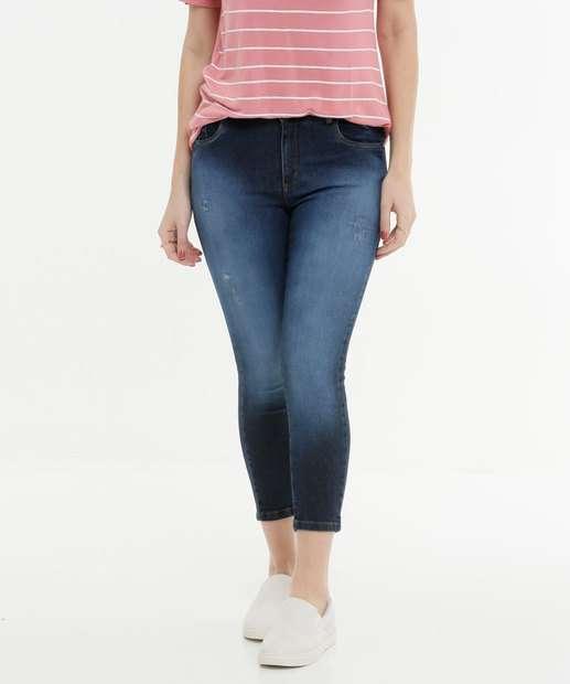Image_Calça Capri  Feminina Puídos Zune Jeans
