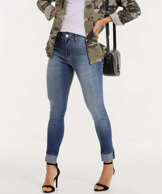 Image_Calça Jeans Feminina Skinny Barra Dobrada Biotipo