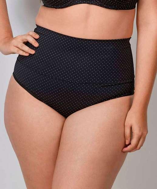Image_Calcinha Feminina Alta Estampa Bolinhas Plus Size DeMillus