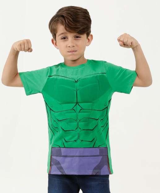 Image_Camiseta Infantil Hulk Manga Curta Marvel