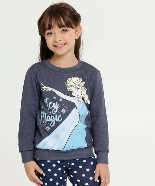 Image_Blusão Infantil Moletom Estampa Frozen Manga Longa Disney
