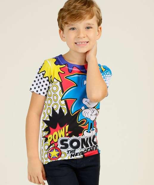 Image_Camiseta Infantil Manga Curta Estampada Sonic Tam 4 a 10