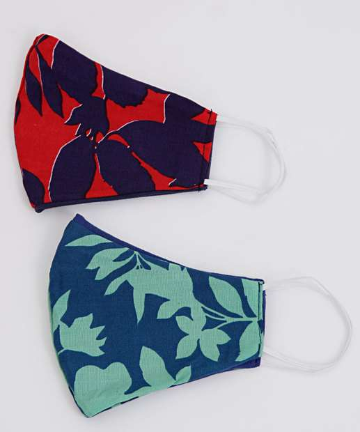 Image_Kit 2 Máscaras Proteção Feminina Floral