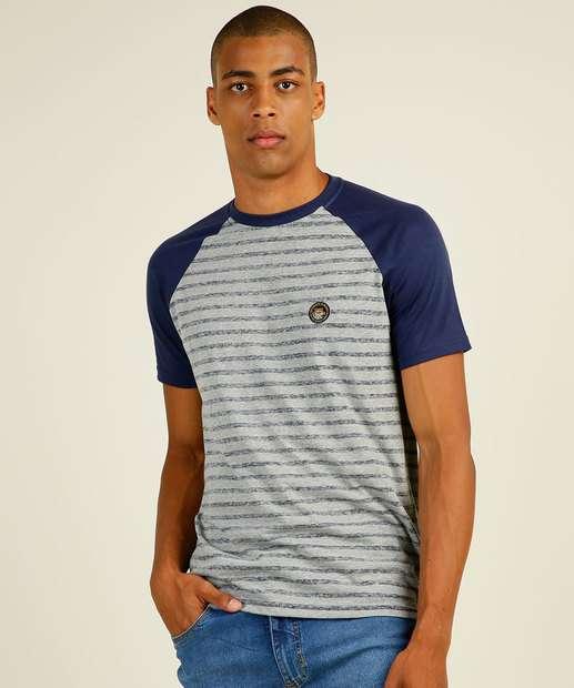 Image_Camiseta Masculina Listrada Recorte Nicoboco