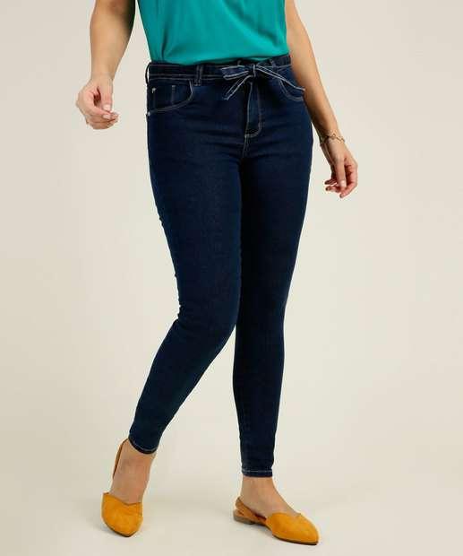 Image_Calça Skinny Feminina Amarração Zune Jeans