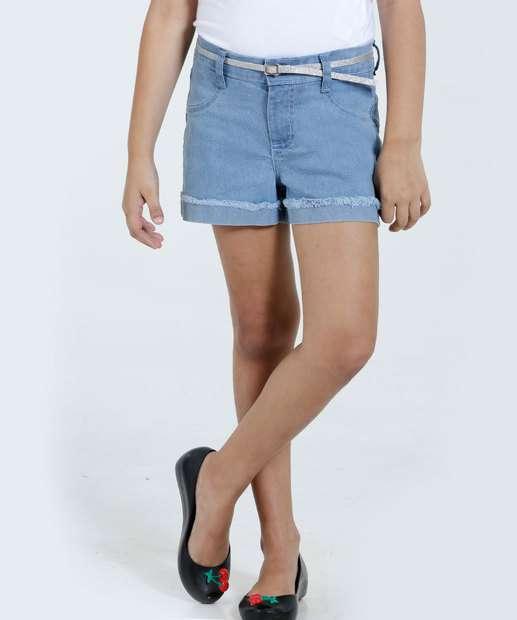 Image_Short Infantil Jeans Brilho Cinto Marisa