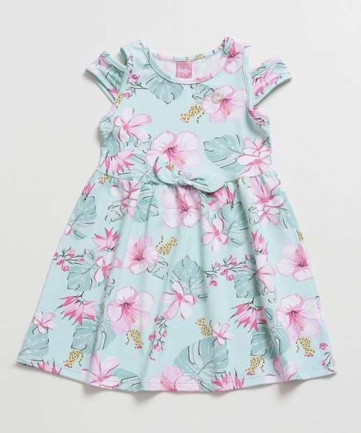Image_Vestido infantil Open Shoulder Estampa Floral Tam 1 ao 3