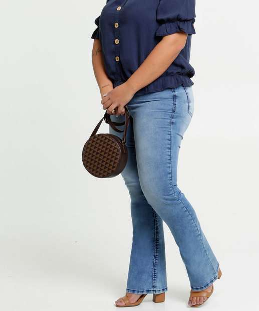 Image_Calça Jeans Boot Cut Feminina Plus Size